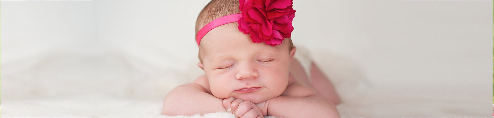 Newborn with Flower Headband
